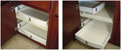 PULL OUT DRAWERS & SHELVES - New kitchen has a few blind corners, this is a good (not expensive) solution