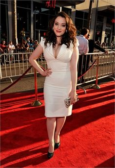 """Kat Dennings, from Two Broke Girls. I love her as an actress AND that she's curvy, aka """"normal""""."""