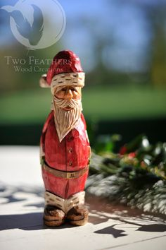 hand carved santa on etsy