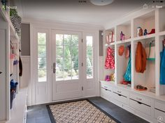 Mud Room Storage Bench - Design photos, ideas and inspiration. Amazing gallery of interior design and decorating ideas of Mud Room Storage Bench in laundry/mudrooms by elite interior designers. Decor, Furniture, Room, Mudroom, Room Design, Mudroom Design, Home Decor, Entry Design, Mud Room Entry