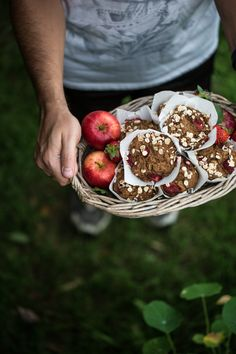 Apple Strawberry Pie Muffins - Cook Republic