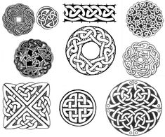Celtic circles and square knot design