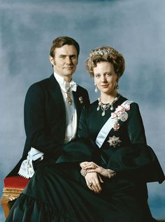 Reina Margarita II y principe Enrique