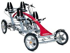 The discontinued Swiss-made ZEM 4-Cycle occasionally pops up for sale used (Photo: the manufacturer)  The ZEM was designed and manufactured in Switzerland with 300 examples made. Its unique red mini-fairing running the length of the body has spawned imitations from Asian quadricycle manufacturers.