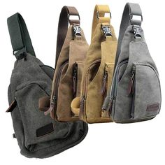 Men's Canvas Military Messenger Shoulder Travel Bags Hiking Fanny Small Bags #Unbranded #MessengerShoulderBagChestBag
