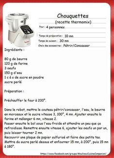 Chouquettes Kitchenaid, Dessert Companion, Cake Factory, Thermomix Desserts, Cooking Chef, No Cook Meals, Food And Drink, Pain, Illustrated Recipe
