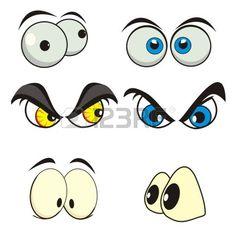 Illustration of eyes cartoon vector art, clipart and stock vectors. Cartoon Eyes, Cartoon Drawings, Tiger Face, Graffiti Lettering, Doodle Designs, Face Expressions, Rock Crafts, Pebble Art, Stone Art