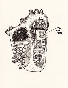 "| ""You Were Here"" Heart Map Sketch. 