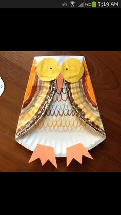 this craft is a 'hoot!' 'owl' you need is a paper plate, paper, and some paint!