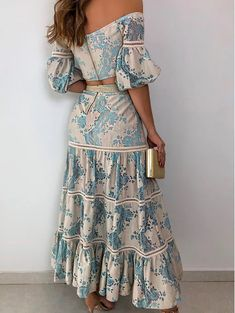 Short Summer Dresses, Simple Dresses, Crop Top Outfits, Skirt Outfits, Look Fashion, Fashion Outfits, Grace And Lace, Casual Chic Outfits, Skirt And Top Set