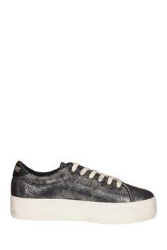 Sneakers compensées argentées Plato No Name sur MonShowroom.com