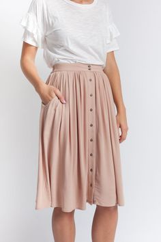 Audrie Skirt Taupe