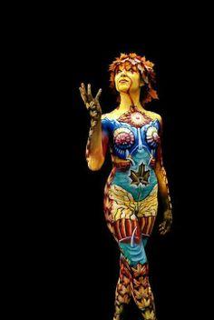 body paint - Egész alakos testfestés