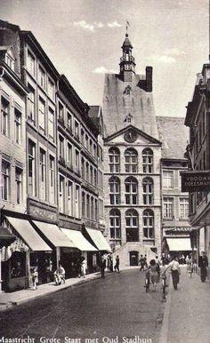 Een oude foto van de Grote Staat in Maastricht.