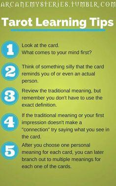Tarot Learning Tips