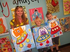 Crafts For Kids, Arts And Crafts, Art Camp, Man On The Moon, Arts Ed, Go Camping, Outer Space, Art Education, Art Lessons