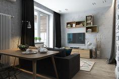Отличный дизайн квартиры площадью всего 35 м². Лаконичный, эргономичный, сдержанный. Хотите ещё лучше? Звоните нам -> +7 (950) 001-67-21 или +7 (812) 603-41-78