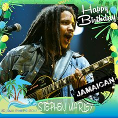 Happy Birthday Stephen Marley!!! American Reggae recording artist & producer of Jamaican descent!!! Today we celebrate you!!! @stephenmarley #stephanmarley #islandpeeps #islandpeepsbirthdays #bobmarley #tuffgong #ragga #themelodymakers #jamaica #bobmarleymuseum