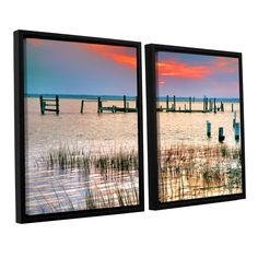 Sunset Bay Iii by Steve Ainsworth 2 Piece Floater Framed Photographic Print on Canvas Set