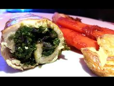 Ana's Food - Homemade Chicken Roulade Stuffed with Spinach and Onion - YouTube
