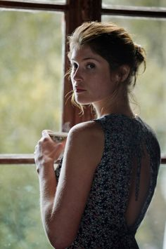 Gemma Arterton in Gemma Bovery backless dress