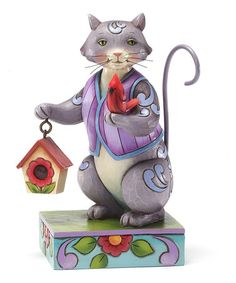 Another great find on #zulily! Cat & Cardinal Figurine by Jim Shore #zulilyfinds