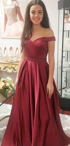 Hot Sale Luscious Long Prom Dresses Elegant Off The Shoulder Burgundy Long Prom Dress Party Dress Prom Dress, Prom Dress Burgundy Prom Dress, Prom Dress Long Prom Dresses Long Prom Dresses With Pockets, Prom Dresses For Teens, Prom Dresses 2018, Ball Gowns Prom, Prom Dresses Online, Prom Party Dresses, Party Gowns, Cheap Prom Dresses, Dance Dresses