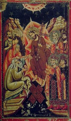 Iconography of the Bright Resurrection of Christ. Religious Images, Religious Icons, Religious Art, Byzantine Icons, Byzantine Art, Christ Is Risen, Jesus Christ, Savior, Web Gallery Of Art