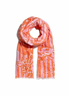 Every Single Piece From The Lilly Pulitzer x Target Collection #refinery29  http://www.refinery29.com/2015/03/84530/lilly-pulitzer-target-collaboration-lookbook#slide-83  Lilly Pulitzer for Target Scarf with Sequins - Giraffeeey, $20, available at Target.
