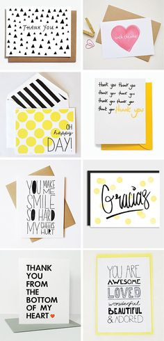 Paperlust // Thank you card wording: how to show your gratitude without sounding insincere