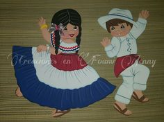 Pareja #1 Tole Decorative Paintings, Costa Rica, Country Crafts, Independence Day, Art Sketches, Crochet Patterns, Clip Art, Quilts, Disney