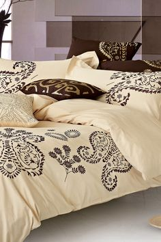Jaipur Cotton Embroidered Duvet Cover - Ivory on @HauteLook