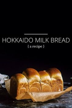 HOKKAIDO MILK BREAD { a recipe } Hokkaido milk bread (or shokupan) is to me the stuff of legends a lofty sky-high loaf with wispy cloud-like innards wondrously soft and fluffy. Its origins are unclear but it is most often found in Japanese and Milk Bread Recipe, Bread Recipes, Baking Recipes, Cooking Bread, Bread Baking, Bread Bun, Pan Bread, Shokupan Recipe, Japanese Bread