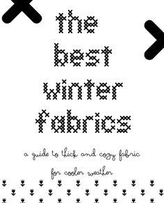 best winter fabrics