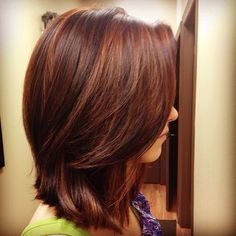Copper highlights done by Taylor at @TreVolte Salon  #hair #copper #highlights