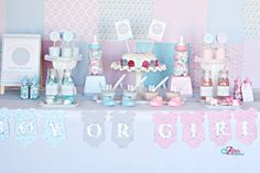 Baby Shower Gender Reveal Party Ideas | Savvy Sassy Moms - great for boy/girl twin