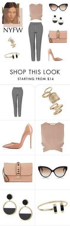 """street style chic"" by supabebek ❤ liked on Polyvore featuring Topshop, Christian Louboutin, Jonathan Simkhai, Valentino, Cutler and Gross, Kate Spade, Michael Kors, StreetStyle, NYFW and chic"
