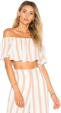 Shop for House of Harlow 1960 X REVOLVE Bree Crop Top in Barley at REVOLVE. Free day shipping and returns, 30 day price match guarantee. Summer Outfits, Cute Outfits, Outfit Goals, Outfit Ideas, Womens Fashion, Fashion Trends, Female Fashion, Fashion Group, Suit Fashion