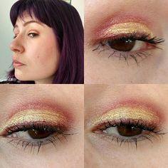 #eyesoftheday und #faceoftheday auf dem beweglichem Lid #catrice #kaviargauche #creameyeshadowandliner C01 #forcedor und in der Lidfalte eine Mischung aus #trenditup #infinitelybeauty #eyeshadow und #katvond #metalcrush und ein wenig braun #catricecosmetics #catrice_cosmetics #dmtrenditup #dm_trenditup #katvondmakeup #katvondbeauty #eyes #eotd #amu #augenmakeup #eyemakeup #face #fotd #selfie