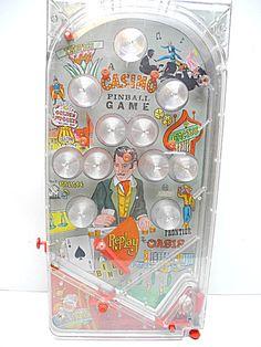 Pinball Unit From 1960s Marx Las Vegas Strip Casino Table Toy