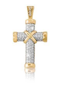 Cubic Zirconia Cross *Prices Valid Until 25 Dec 2013 Gold Diamond Rings, Besties, Bling, Earrings, Christmas, Shopping, Beautiful, Jewelry, Women