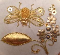 Goldwork Peacock Goldwork Passion Flower Goldwork Seahorses Goldwork Flower Window Goldwork Daisy Intro to Goldwork: Butterfly Intro to Goldwork: Couched Winter Snowflakes Intro to Goldwork: Couched Flower with Padded Leather Intro to Goldwork: Couched and Painted Flower Bloom Intro to Goldwork: Couched Butterfly and Flower Cascade Intro to Goldwork: Couched Flower Intro to Goldwork: Bumblebee …