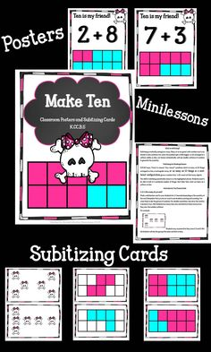 Time to subitize! This product gives you differentiated levels of subitizing with your students and you also get posters to display in your classroom that highlight all the friends that make ten! Give the gift that keeps giving by helping your students understand friendly numbers. My inspiration for this product comes from Singapore math strategies.
