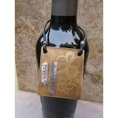 Etched Metal Wine Hang Tag – Happy Birthday - could be made into anything