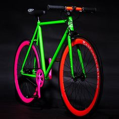Glow in the Dark Fixie Bike by Beatnecks for TRENDWIZZARD | MONOQI #bestofdesign | Origin Germany | Material Steel
