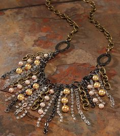 Pretty #DIY Mixed Chain Drop Necklace
