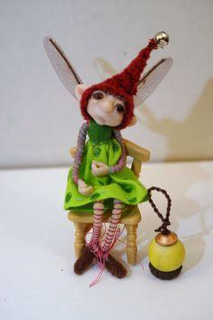 ooak poseable TINY toddler GNOME elf  ( 42 ) fairy pixie art doll by DinkyDarlings by DinkyDarlings on Etsy