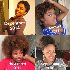 #Repost @mhhhmm_tan ・・・ My natural hair journey! I still can't believe I did the big chop a couple years ago! My hair grew pretty fast...can't wait to see the growth in two more years! Natural is best thing I could of done cause I hated perms‼️  #naturalhair #puff #afro #natural #kinks #curls #kinkycurly #3chair #coils #healthyhair #twostrandtwist #braidout #washandgo #shrinkage #teamnatural_ #naturalwomen #bigchop