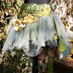 upcycled tattered skirt  grenada fog by pondhopper on Etsy, $168.00