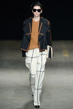 3.1 Phillip Lim | Fall 2014 - Faint Worthy. WOW. WOW, WOW. Best outfit I've seen so far at NYFW. Just enough structure with very crisp slouch. Genius.